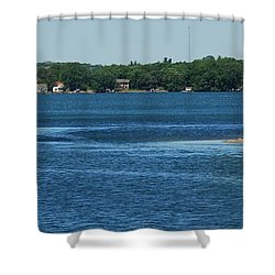 Shower Curtain featuring the photograph Across The Bay by Ramona Whiteaker