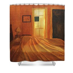 Across The Bed Shower Curtain