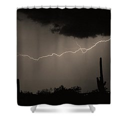 Across The Desert - Sepia Print Shower Curtain by James BO  Insogna