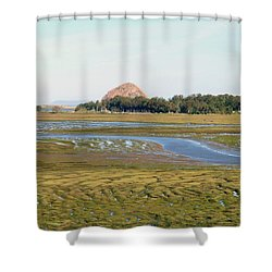 Shower Curtain featuring the photograph Across The Estuary by Art Block Collections