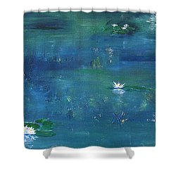 Across The Lily Pond Shower Curtain