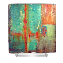 Across The Park Shower Curtain