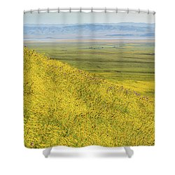 Shower Curtain featuring the photograph Across The Plain by Marc Crumpler