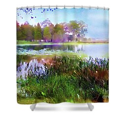 Across The Pond Shower Curtain