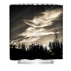Across The Sky Shower Curtain