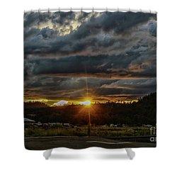 Across The Tracks Shower Curtain by Billie-Jo Miller