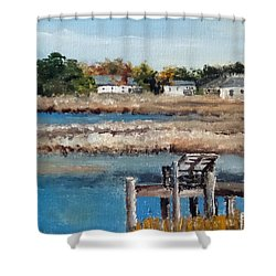 Across The White Oak Shower Curtain