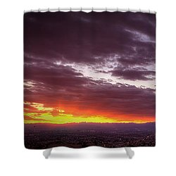 Across Vegas Sunset Shower Curtain