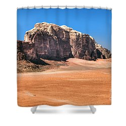 Across Wadi Rum Shower Curtain