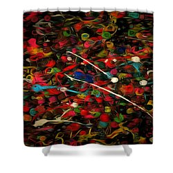 Acrylic Paint Shower Curtain