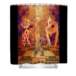 Act 3 Burlesque Circus Follies Shower Curtain by Joseph J Stevens