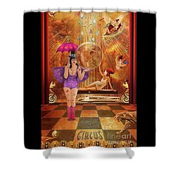 Act 4 Circus Pipe Dreams Alice In A Wonderland Shower Curtain