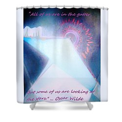 Shower Curtain featuring the painting Act Of Creation by Denise Fulmer