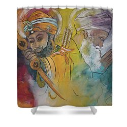 Action In Peace Shower Curtain