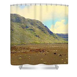 Active Volcano Shower Curtain