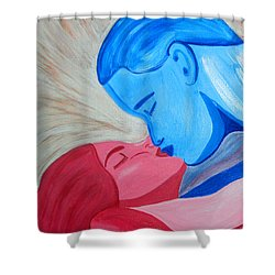 Adam And Eve Close Up Shower Curtain