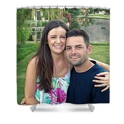 Adam And Lys Shower Curtain by Michael Pickett