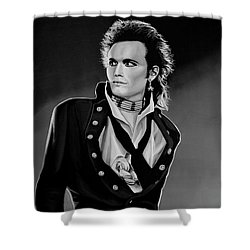 Adam Ant Painting Shower Curtain by Paul Meijering