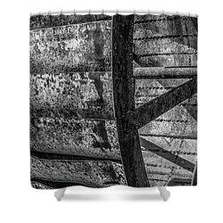 Adam's Mill Water Wheel Shower Curtain