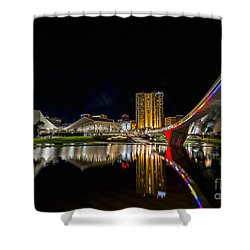 Adelaide Riverbank Shower Curtain by Ray Warren
