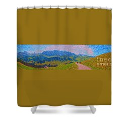 Adelboden Panoramic Shower Curtain by Gerhardt Isringhaus