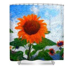 Adelboden Sunflower Shower Curtain