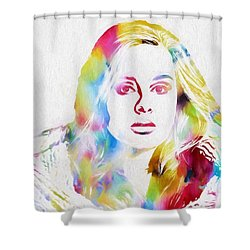 Adele Shower Curtain by Dan Sproul