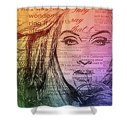 Adele Hello Typography  Shower Curtain