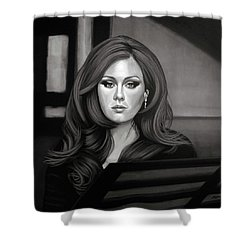 Adele Mixed Media Shower Curtain by Paul Meijering
