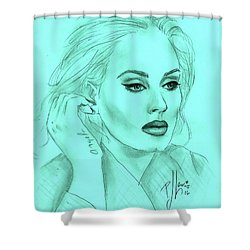 Adele Shower Curtain by P J Lewis