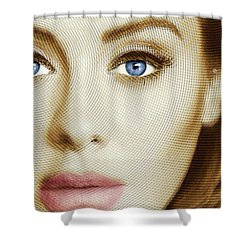 Adele Painting Circle Pattern 1 Shower Curtain by Tony Rubino