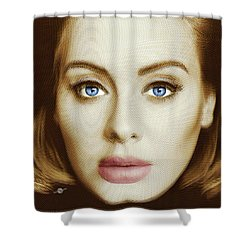 Adele Painting Circle Pattern 2 Shower Curtain by Tony Rubino