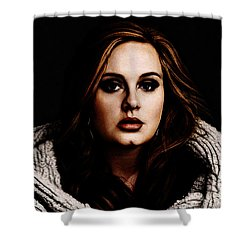 Adele Shower Curtain by The DigArtisT