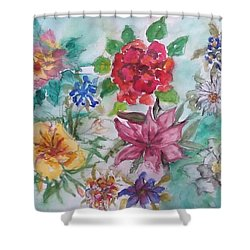 Adele's Garden Shower Curtain
