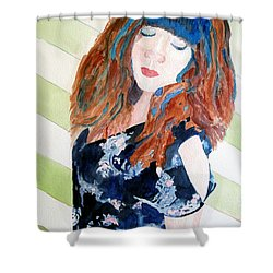 Shower Curtain featuring the painting Adelina by Sandy McIntire