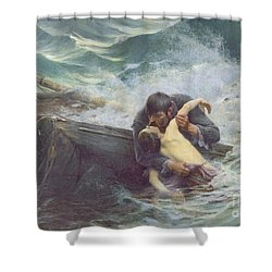 Adieu Shower Curtain by Alfred Guillou