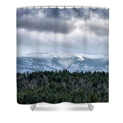 Shower Curtain featuring the photograph Adirondack High Peaks During Winter - New York by Brendan Reals
