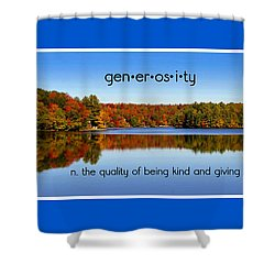 Shower Curtain featuring the photograph Adirondack October Generosity by Diane E Berry