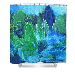 Shower Curtain featuring the painting Adirondack Spring by Betty Pieper