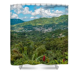 Shower Curtain featuring the photograph Adjuntas by Jose Oquendo