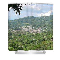 Adjuntas Town Shower Curtain