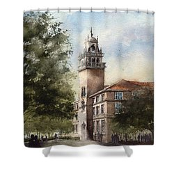 Administration Building At Texas Tech University Shower Curtain by Tim Oliver