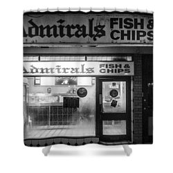 Admirals Fish And Chips Shower Curtain