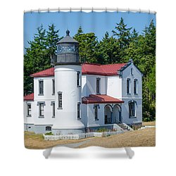 Admiralty Head Lighthouse  Shower Curtain