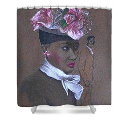 Admirer, 1947 Easter Bonnet -- The Original -- Retro Portrait Of African-american Woman Shower Curtain