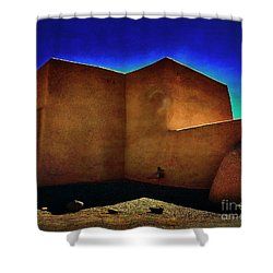 Adobe Church II Shower Curtain