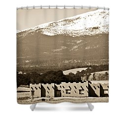 Adobe House Shower Curtain by Marilyn Hunt