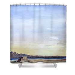 Adobe Rock Shower Curtain