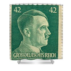 Adolf Hitler 42 Pfennig Stamp Classic Vintage Retro Shower Curtain