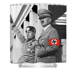 Adolf Hitler And Fellow  Dictator Benito Mussolini October 26 1936  Number Two Color Added 2016 Shower Curtain